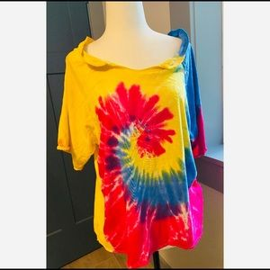 🐦2/30$ Vintage short sleeve Tie-dye shirt size M